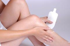 creaming ноги Стоковое Изображение RF