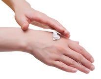creaming руки Стоковые Изображения RF