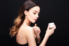 Creaming face Royalty Free Stock Photo