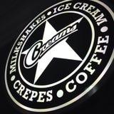 Creams кафе стоковые изображения rf