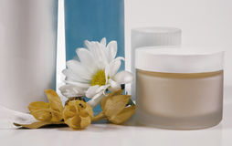 Creams, Candle, Lotion  Royalty Free Stock Images