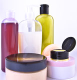 Creams and lotions Stock Images