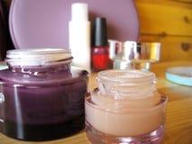 Cream organic and cosmetics Royalty Free Stock Photo