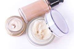 Creams and makeup Stock Photos