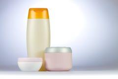 Creams and shampoo Royalty Free Stock Photo