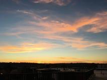 Creamsicle-Himmel Stockbilder