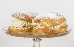 Creamy almond buns Royalty Free Stock Image