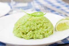 Creamy avocado rice Royalty Free Stock Photo
