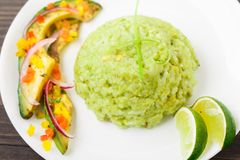 Creamy avocado rice Stock Photography