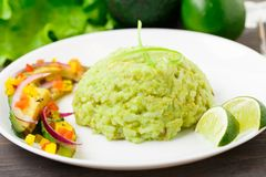 Creamy avocado rice Royalty Free Stock Images