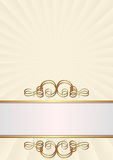 Creamy background. With golden ornaments Royalty Free Stock Photos