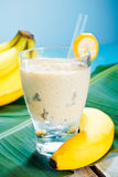 Creamy banana smoothie Royalty Free Stock Images