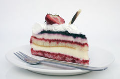Creamy berry cake Royalty Free Stock Photos
