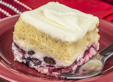 Creamy berry cake Stock Photos