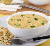Creamy Broccoli Chedar Soup Stock Photo