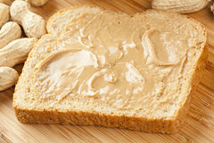 Creamy Brown Peanut Butter Stock Images