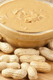 Creamy Brown Peanut Butter Royalty Free Stock Photography