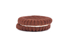 Creamy Brown Sandwich Biscuit Royalty Free Stock Photography