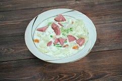 Creamy Cabbage  Kielbasa Soup Royalty Free Stock Photography