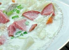 Creamy Cabbage  Kielbasa Soup Royalty Free Stock Photo