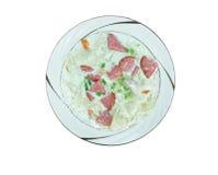 Creamy Cabbage  Kielbasa Soup Stock Photography