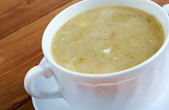 Creamy cabbage and sorrel soup Royalty Free Stock Photo