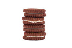 Creamy Cacao Biscuits Stock Images