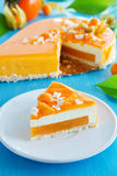 Creamy cake with coconut Royalty Free Stock Images