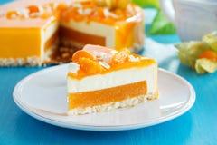 Creamy cake with coconut Stock Photo