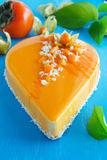 Creamy cake with coconut Stock Images