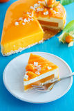 Creamy cake with coconut Stock Image