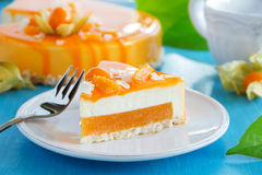 Creamy cake with coconut Royalty Free Stock Photos