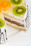Creamy cake with fruits Royalty Free Stock Photography