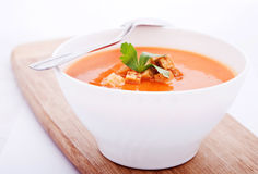 Creamy carrot soup Royalty Free Stock Images