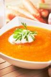Creamy carrot soup Royalty Free Stock Photos