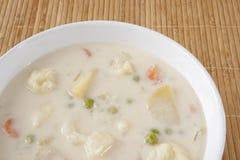 Creamy Cauliflower Soup Stock Photo