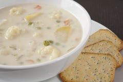 Creamy Cauliflower Soup Royalty Free Stock Photography