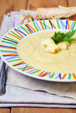 Creamy cauliflower and zucchini soup Stock Photo