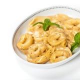 Creamy Cheese & Basil Tortellini Royalty Free Stock Photo