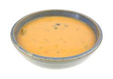 Creamy Cheese Bisque Soup  Side View Stock Photos