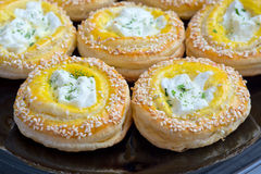 Creamy cheese and pastry Royalty Free Stock Image