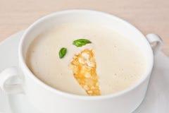 Creamy cheese soup Stock Photos