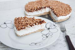 Creamy cheesecake with chocolate Stock Photography