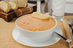 Creamy chicken gouda bisque Stock Image