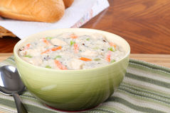 Creamy Chicken Soup Stock Photos