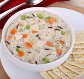 Creamy Chicken Soup Stock Photo