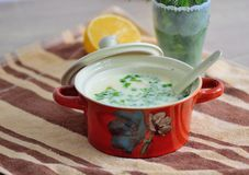 Creamy chicken soup Royalty Free Stock Photography