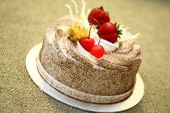 Creamy Chocolate Cake Royalty Free Stock Images