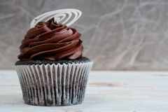 Creamy chocolate cupcake Stock Photo