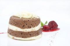 Creamy chocolate desserts Stock Images